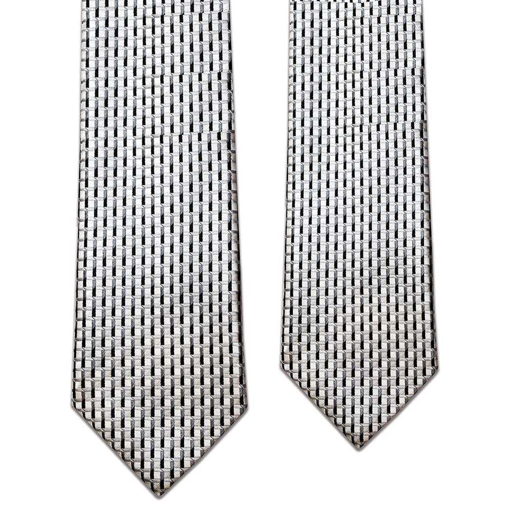 Father and Son Silver/Black Matching Tie