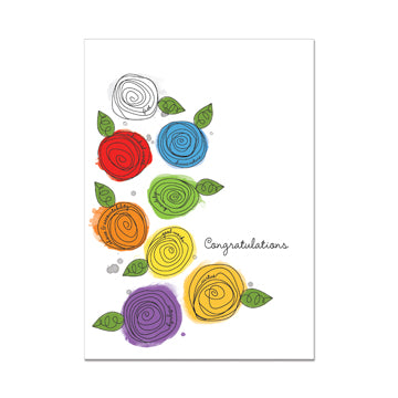 Young Women Congratulations Greeting Card