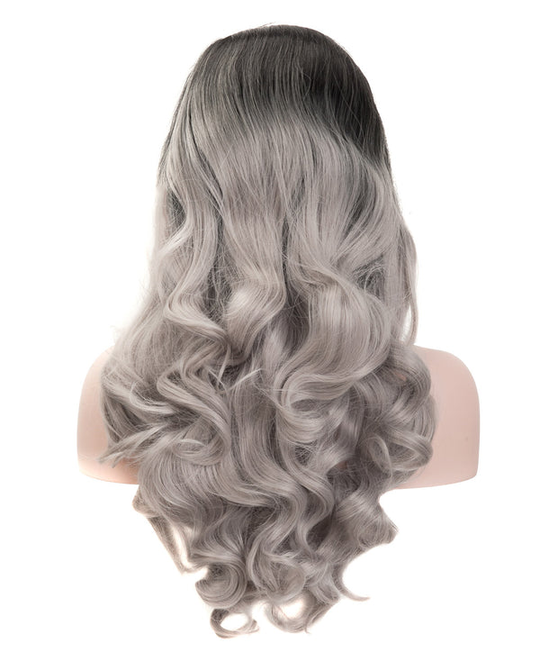 Gray Mix Ombre 22¡± Body Wave Wig