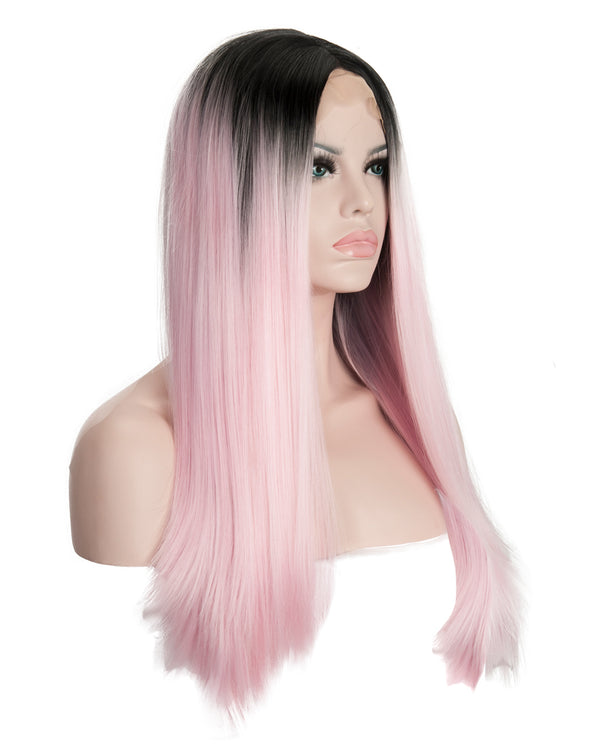 Baby Pink Ombre 22¡± Straight Wig