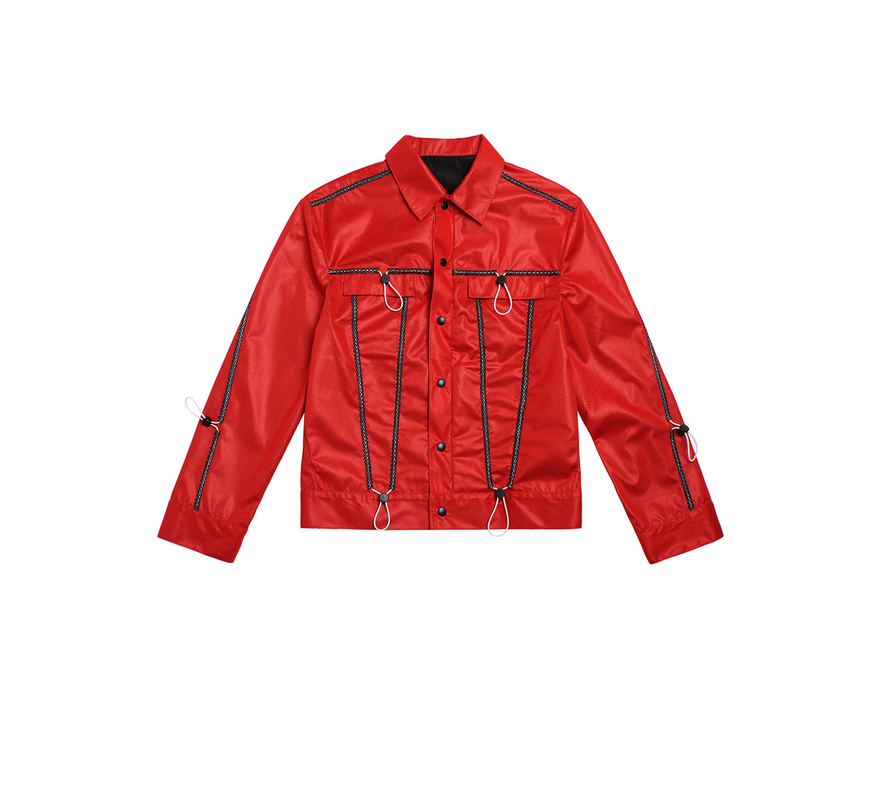 DRAWSTRING PATCHWORK JACKET