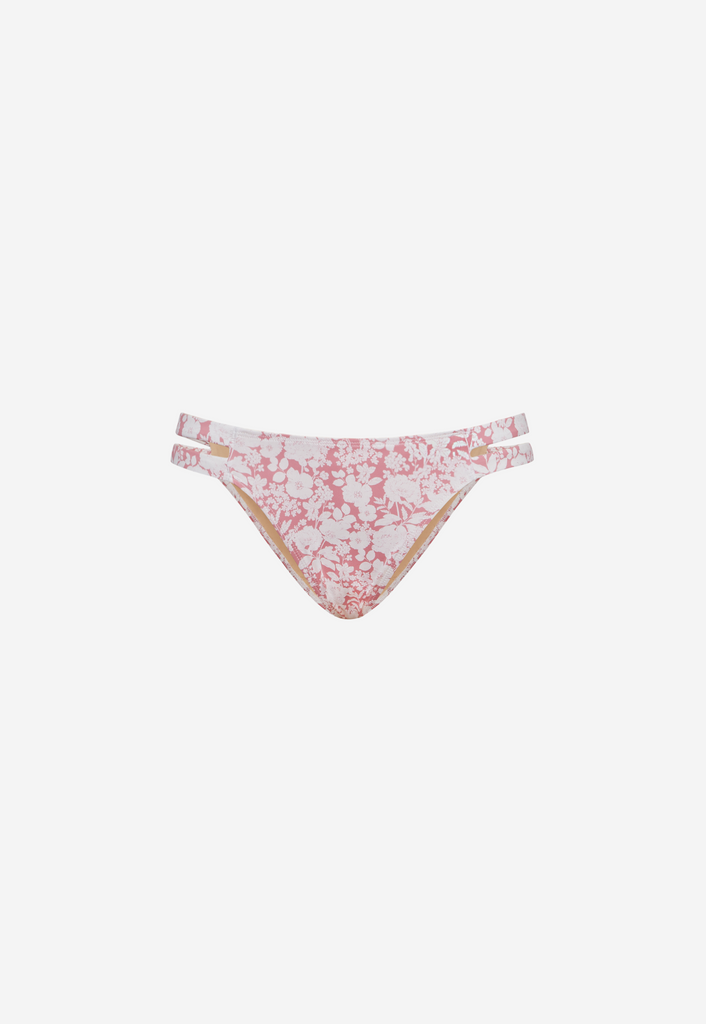 6 Shore Road Beach Wave Women's Pink Floral Swimsuit Bikini Bottom in XS, S, M, L - Summer 2018 Collection
