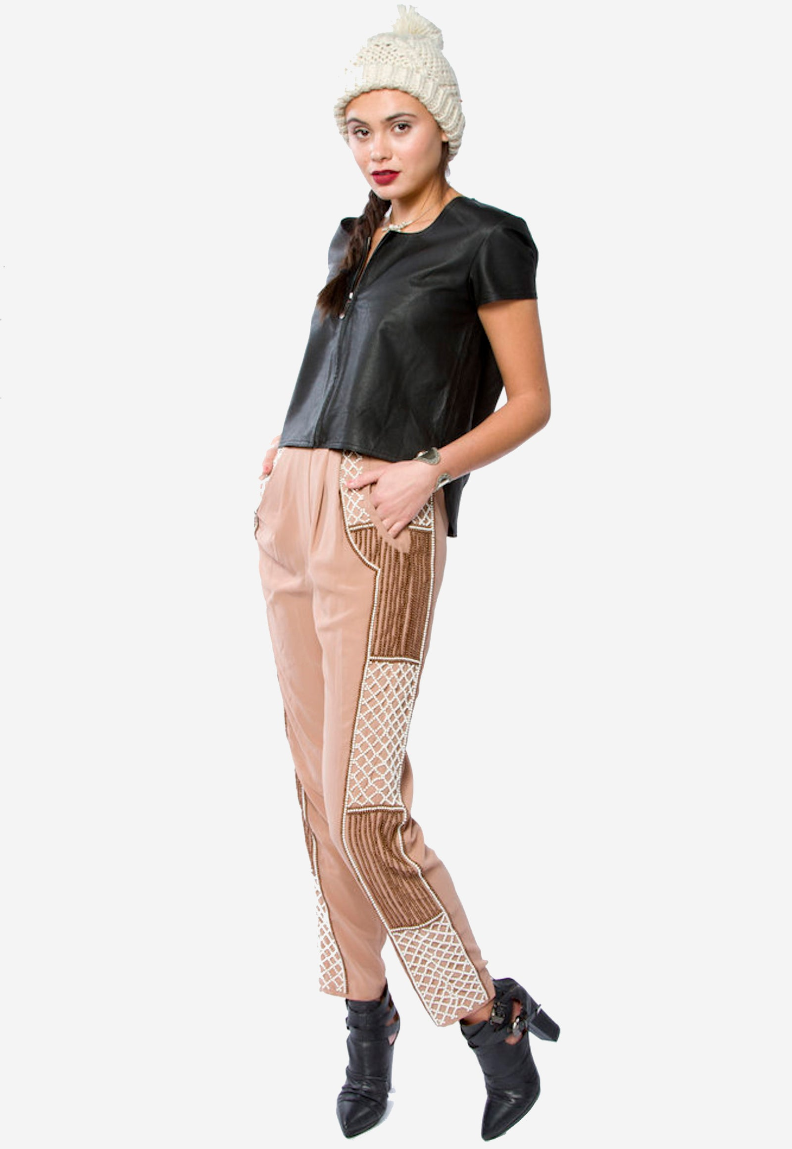Beaded End of Day Pants