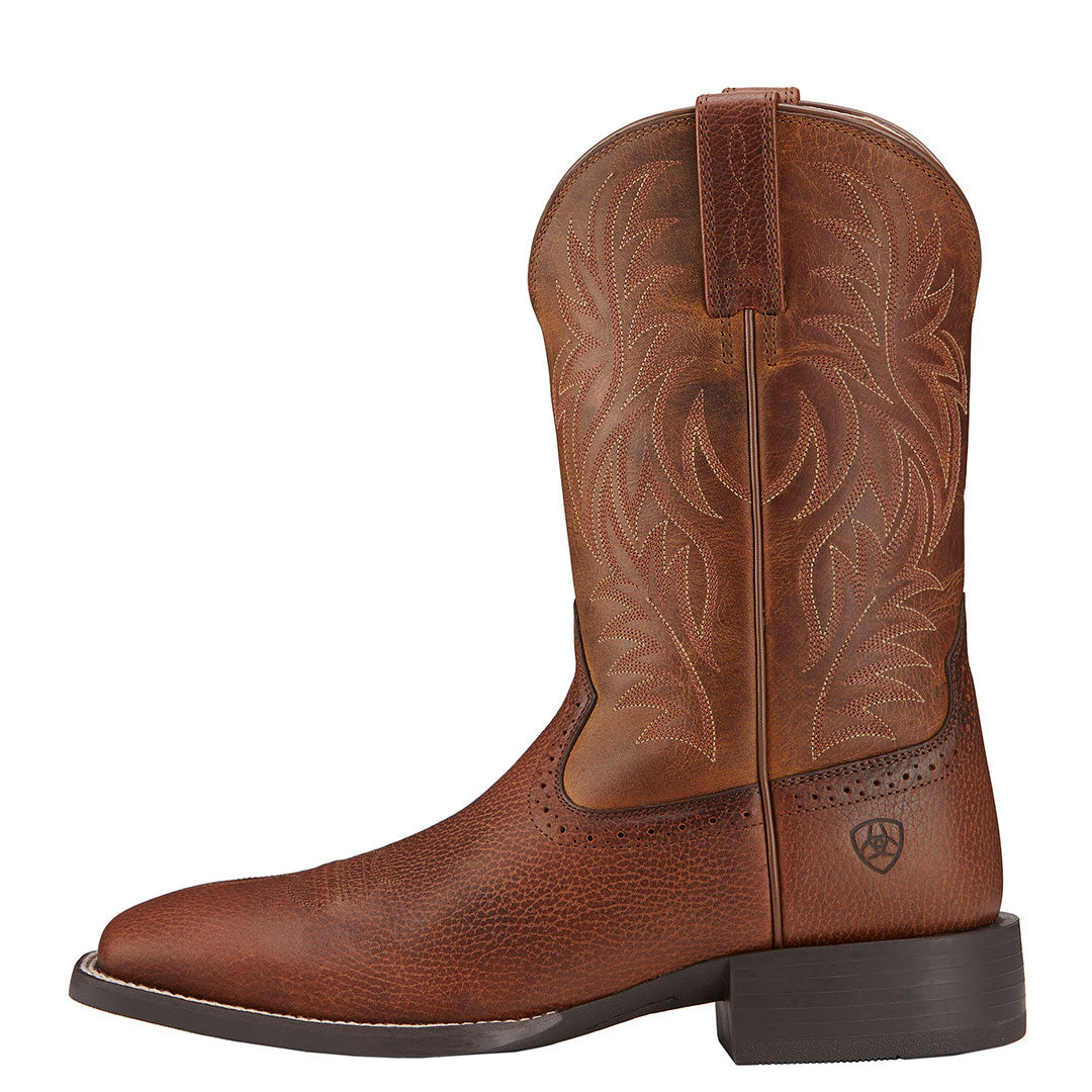 Ariat Sport Fiddle Brown Cowboy Boots