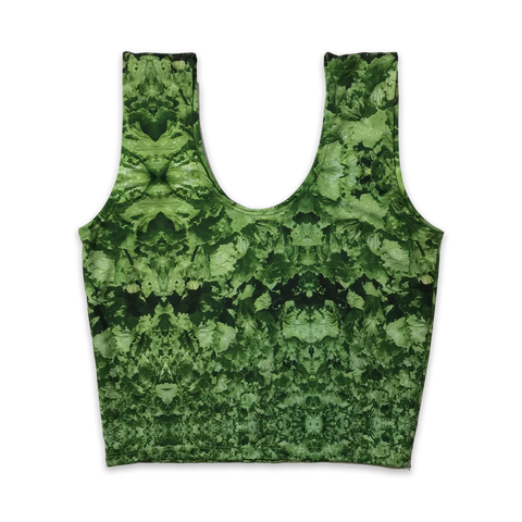 Lettuce Womens Camo Pattern Crop Top