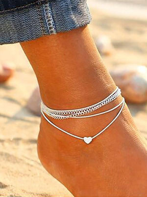 Beach Multi-layered Bohemian foot Chain