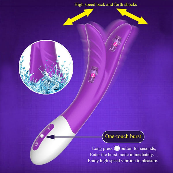 Rechargeable  Dildo Vibrator Breast Massager