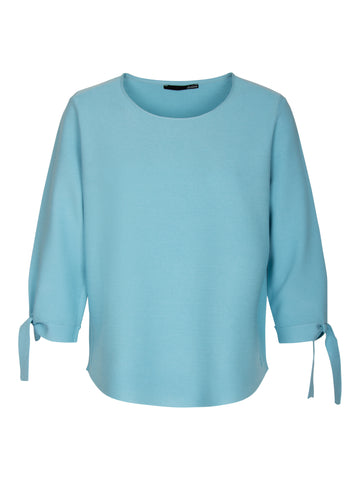 Le Comte - Pullover met ronde boothals - Pastel-azuur