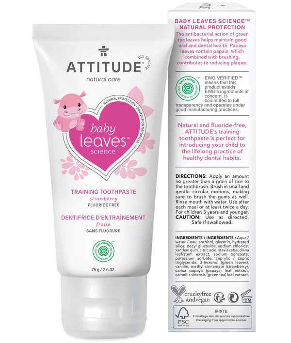 16721- ATTITUDE Baby Leaves Training Toothpaste fluoride free for baby and toddlers _en?_hover?