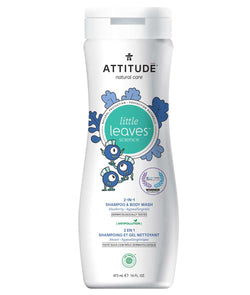 11016- ATTITUDE Little Leaves 2-in-1 Shampoo and Body Wash Blueberry for kids_en?_main?
