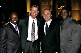 Emmit Smith, Troy Aikman, Rich Dalrymple, Michael Irvin at Lombardo Custom Apparel