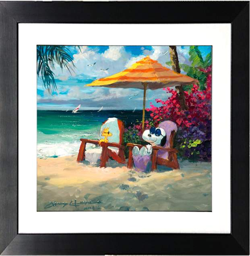 Summer Livin' by James Coleman (framed giclee on paper), Peanuts