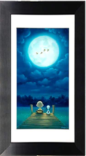 Woodstock Over Dock by Rob Kaz (framed giclee on paper), Peanuts