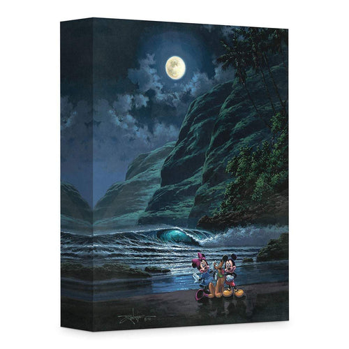 Mickey Mouse & Minnie ''Moonlight Portrait'' by Rodel Gonzalez, Giclée on Canvas, Disney Treasure