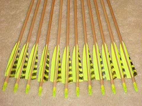 40-45# Falcon Arrows – Cedar, Florescent Lime