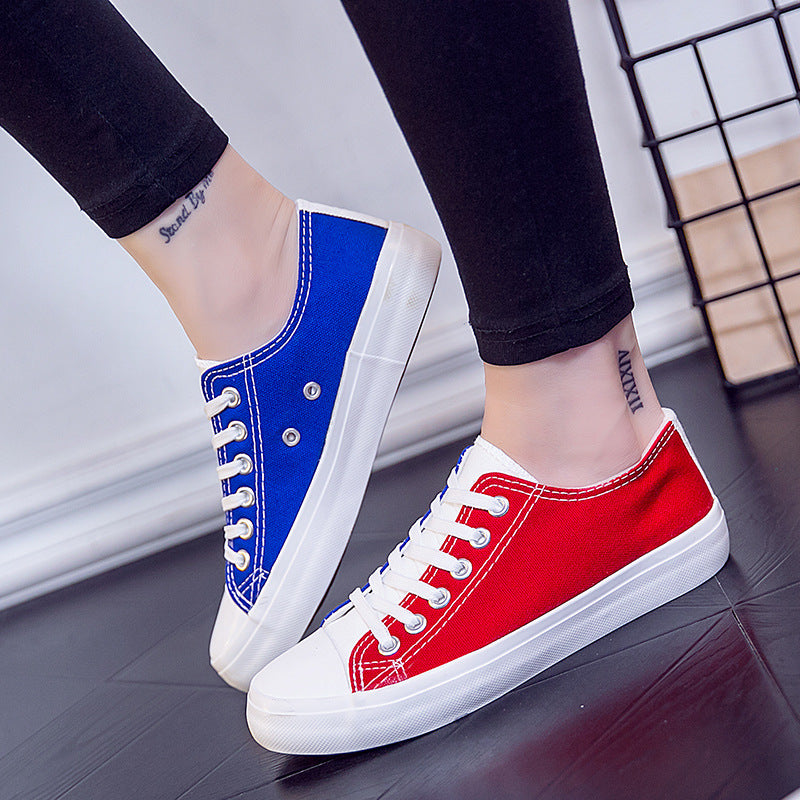 2019 spring couple neutral canvas shoes - freakichic