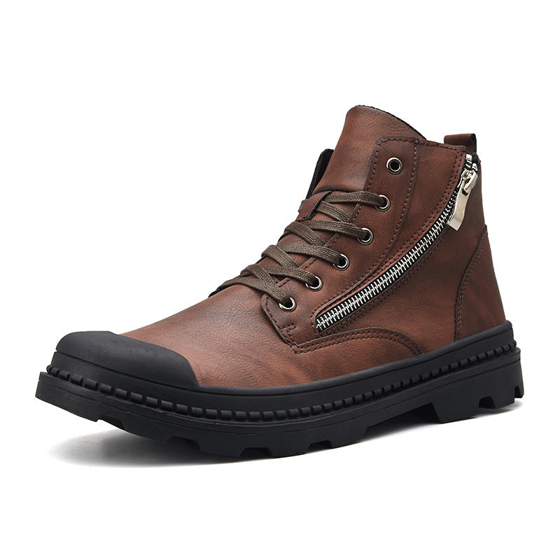 2019 New England Vintage Martin Boots - Brown - Black - freakichic