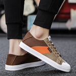 Colorblock canvas shoes men's casual breathable canvas shoes - freakichic