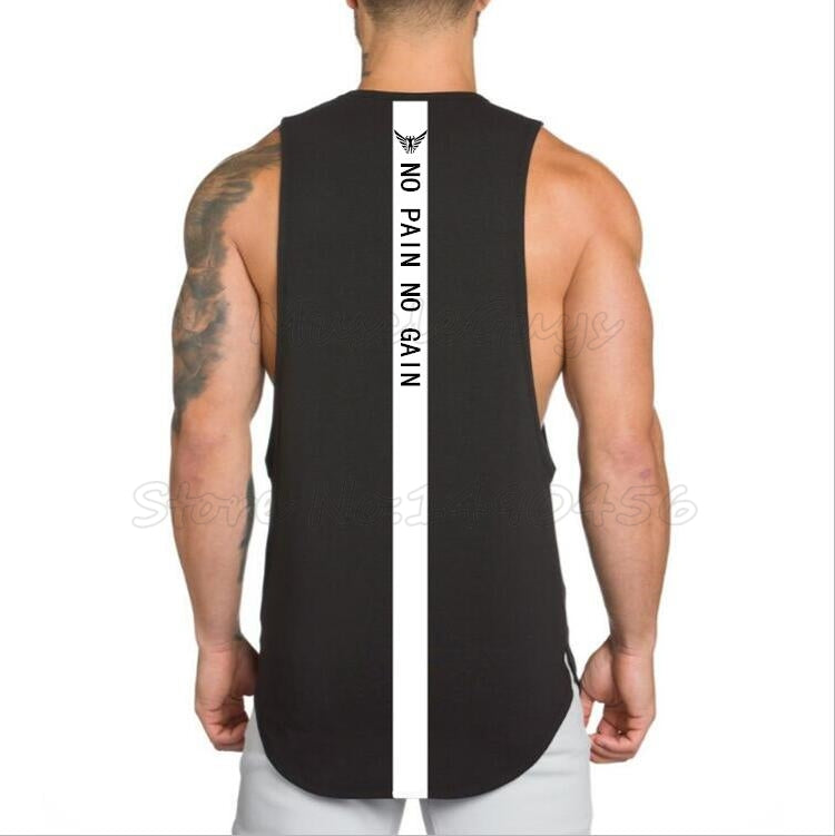 Gyms clothing mens fitness singlet cotton bodybuilding stringer tank top - freakichic
