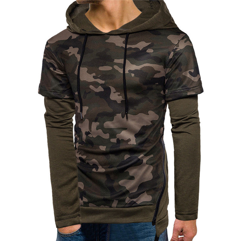 Fashion Two Piece Camouflage Hoodie - freakichic