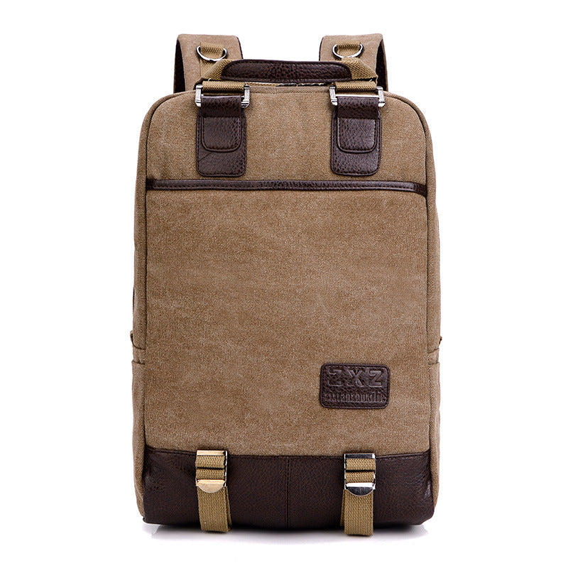 Fashion casual multi-function canvas backpack retro travel backpack - freakichic