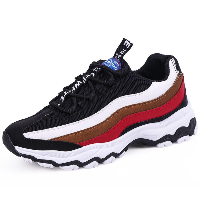 2019 spring new men's shoes trend casual sports shoes leather running shoes - freakichic