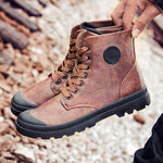 Men Boots Palladium Style Fashion High-top Military Ankle Boots - freakichic