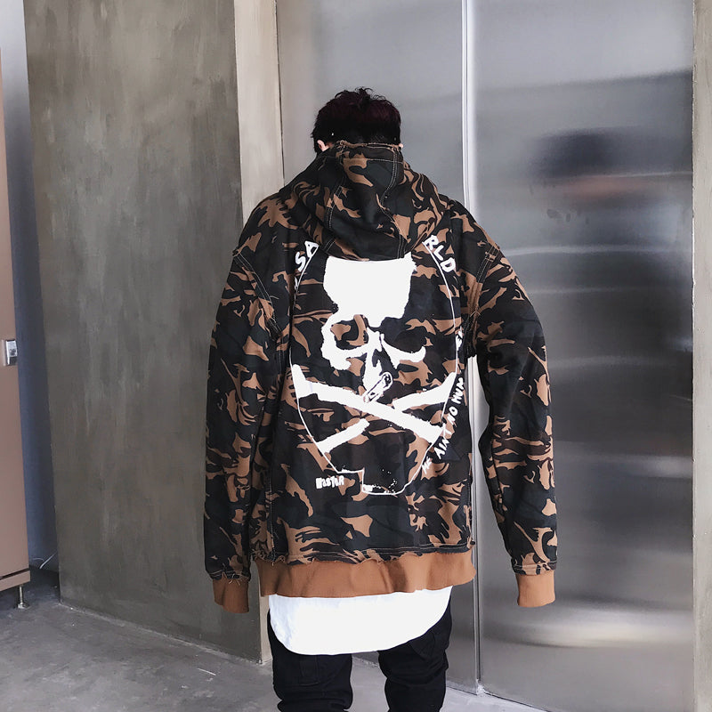 Men's Fashion Camouflage Hoodies Men's Tyga Swag Sweatshirts Cotton Hoody US Size M-XXL
