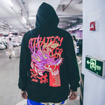 2019 original 12 Zodiac print men's sweater painting animal loose hooded sweater - freakichic