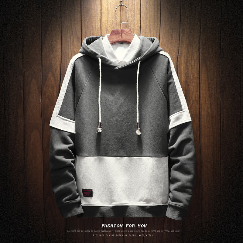 Men Patchwork casual Hoodies - freakichic