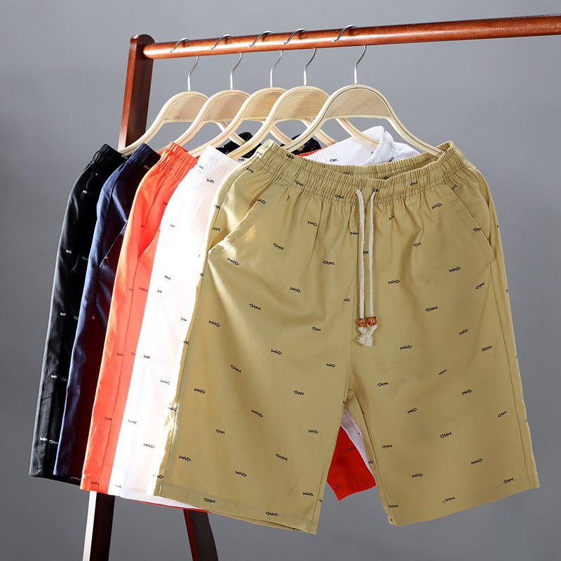 2019 summer casual pants men's new beach cotton shorts - freakichic
