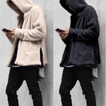 Men's Casual Loose Double-sided Plush Hooded Coat - freakichic