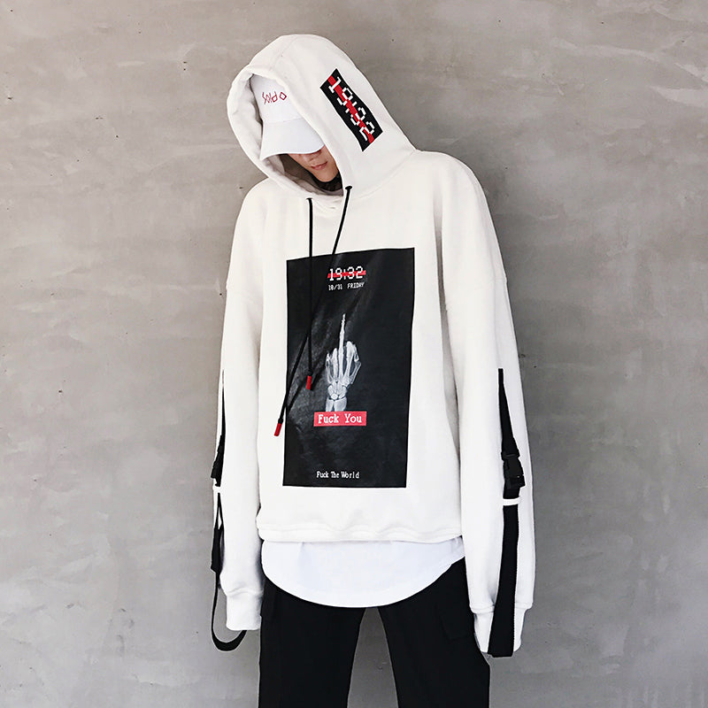Men HoodiesFashion Hip Hop Cotton Hooded Clothing - freakichic