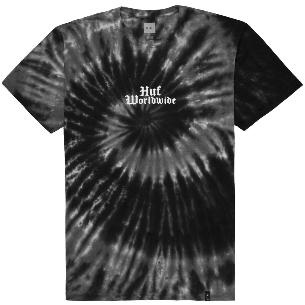 BAR BIRD TIE-DYE S/S TEE BLACK