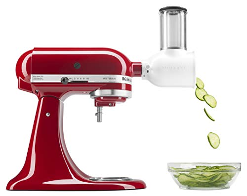 KitchenAid KSMVSA Fresh Prep Slicer/Shredder Attachment, 1, White - SkinnyMinx