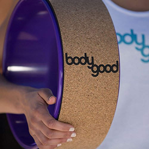 BodyGood Cork Yoga Wheel. Pro Grade, 13-inch Dharma Yoga Prop Supports up to 500 lbs. Improve Back Bends, Deepen Practice or Release Tight Muscles (Cork/Cockatoo). - SkinnyMinx
