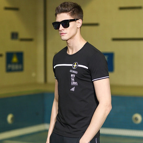 Pioneer Camp New short T-shirt men brand clothing fashion printed T shirt male top quality elastic casual Tshirt ADT702185