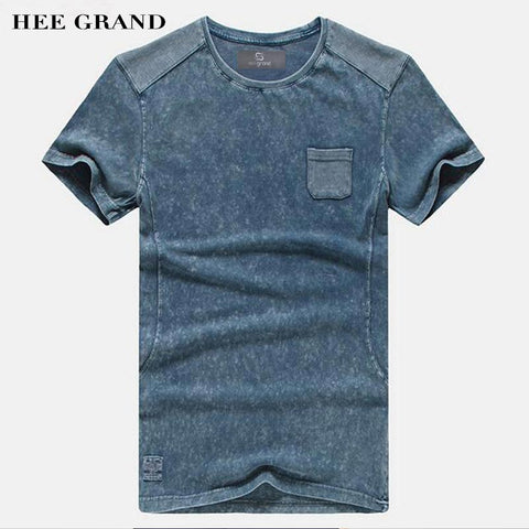 HEE GRAND 2018 Hot Sale Men Summer T- Shirts Casual Typical Style 100% Cotton Comfortable Material Men Top Tees MTS2381