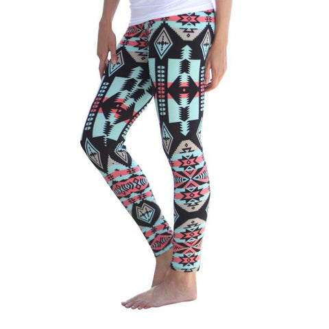 Women Leggings Print Stretchy Casual Skinny Leggings Pants