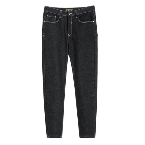 Pioneer Camp new black jeans men brand clothing solid straight denim pants male top quality stretch denim trousers ANZ803160