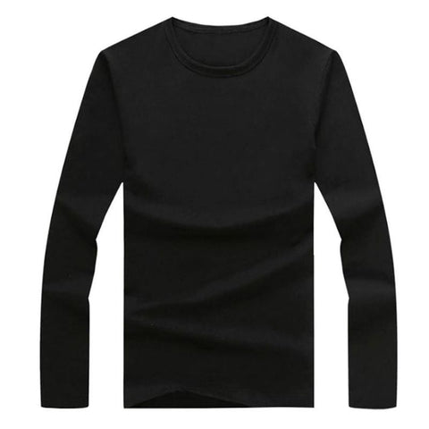 Men Casual Slim Fit Solid Color T Shirts Men Long Sleeve O Neck/V Neck Cotton T shirts