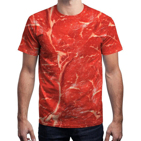 New Fashion Beef Meat 3d Sweatshirt Funny Simulation Bacon Pullovers T Shirt