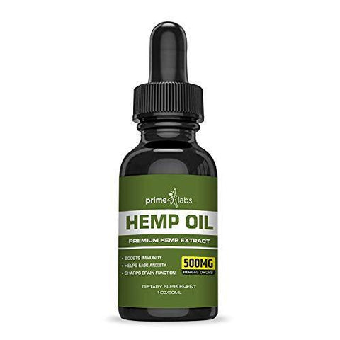 Hemp Oil Extract (500mg) :: Potent All-Natural Formula :: Pure Seed Extract :: Heart Healthy Omega 3 and 6 Acids :: Fresh Peppermint Flavor :: 30 Day Supply :: Prime Labs