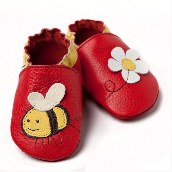 Liliputi Soft Baby Shoes - Little bee [it] Scarpine morbide in pelle Liliputi - Ape