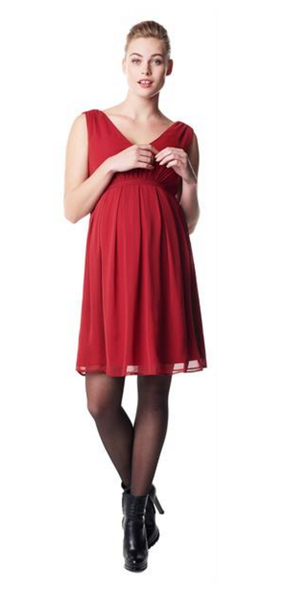 Maternity dress Belem - Red [it] Abito premaman Belem - Rosso