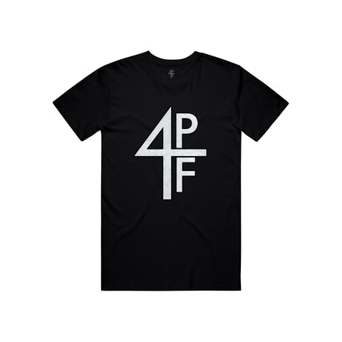 4PF Chenille patch Tee - Black