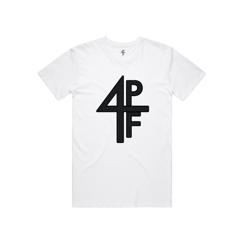 4PF Chenille patch Tee - White
