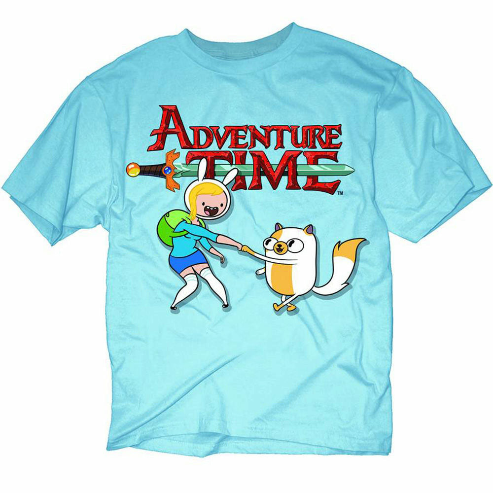 Adventure Time Fionna & Cake Mens Blue T-Shirt