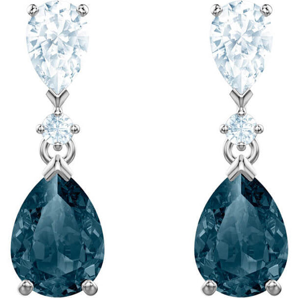 SWAROVSKI VINTAGE EARRINGS, BLUE