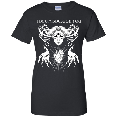 I Put a Spell On You 100% Cotton T-Shirt Black / X-Small - Cradle Of Goth